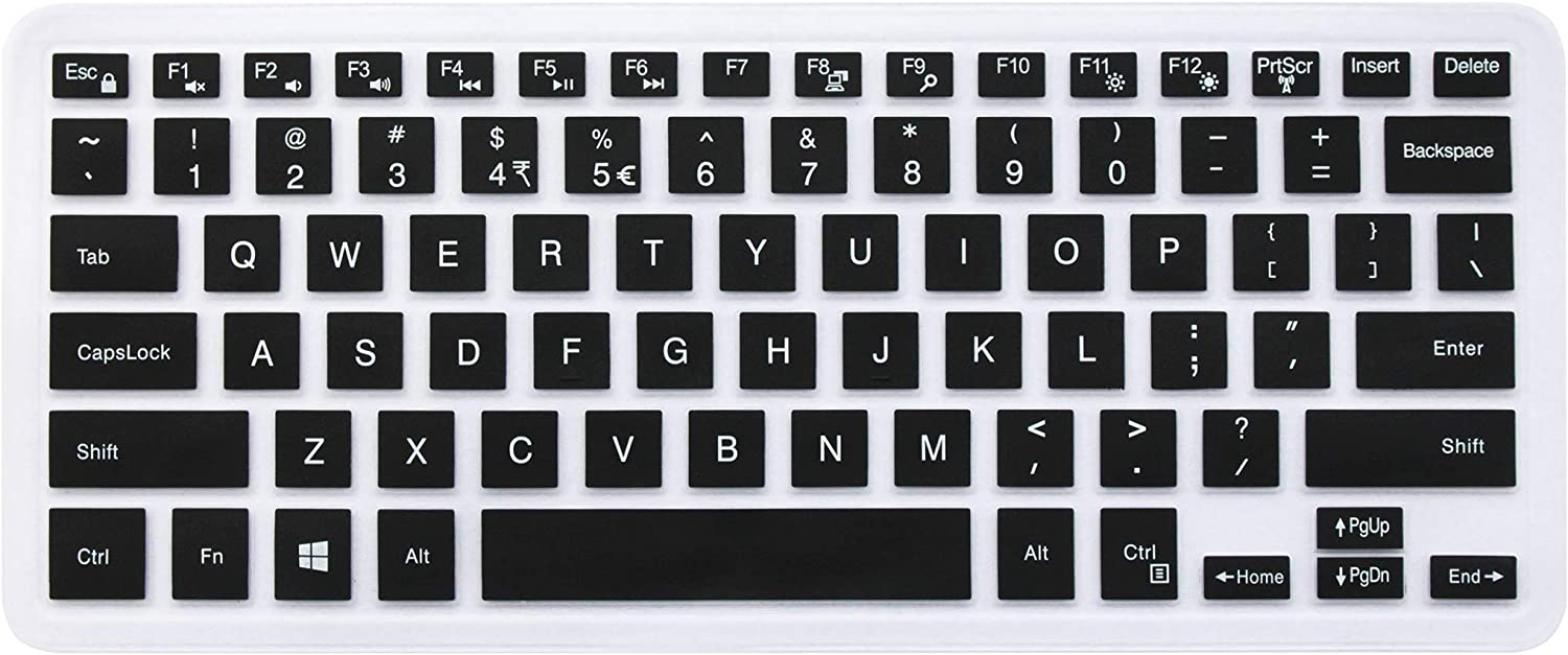 "Keyboard Cover Compatible with 2018 13 5000 7000 Series 5368 i5368 i5378 i5379 7373 7375 7368 7378, 15.6"" 15 i5568 i5578 5579 7570 7573 7569 7579 (NO Numeric Keypad) Black"