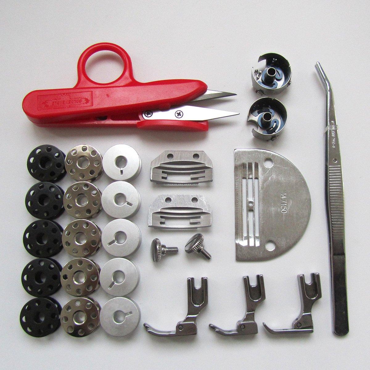 KUNPENG - # KP-SN13 27 piezas de repuesto para JUKI DDL-5550 BROTHER B737 CONSEW 230 costura de aguja individual: Amazon.es: Hogar
