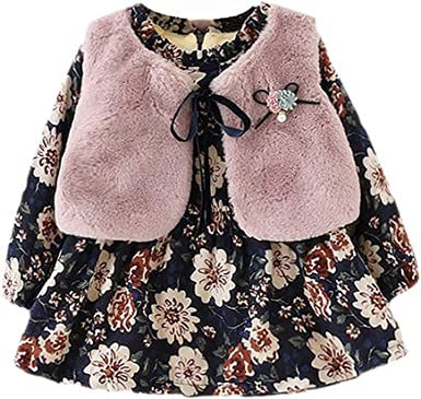 Vestidos de Bebé Niñas, Allskid Invierno Manga Larga Calentar ...