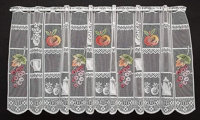 Visillo de 34 cm De Ancho Frutas de colores para la Cocina 45 cm alto: Amazon.es: Hogar