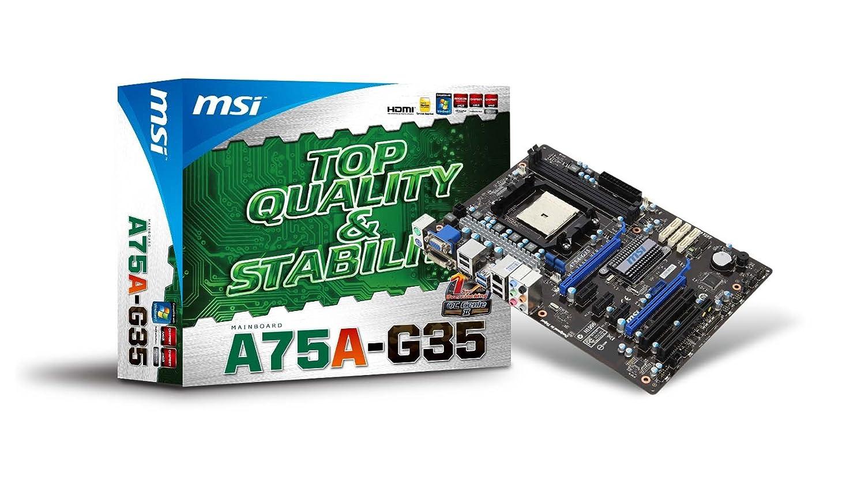 MSI A75A-G35 Motherboard AMD FM1 AMD A75 ATX SATA RAID