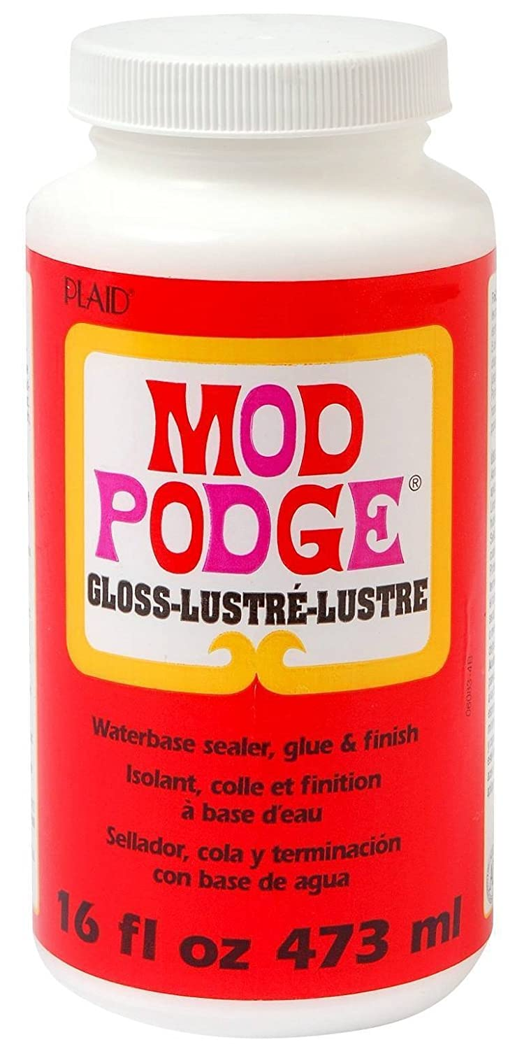 Mod Podge All In One Decoupage Adhesive Finish Glue Sealer Tub 16oz Gloss Plaid