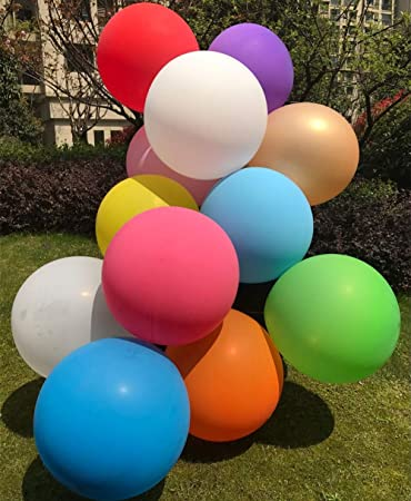 GuassLee Big Balloon 36 Inch Round Latex Giant Balloon Large Thick Balloons for Photo Shoot//Birthday//Wedding Party//Festival//Event//Carnival Decorations