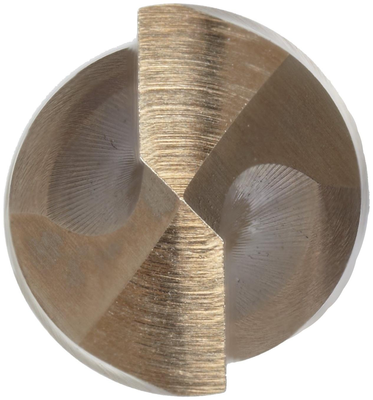 135 Degree Split Point 10.50mm Spiral Flute Round Shank Precision Twist 4ASMCO Cobalt Steel Short Length Drill Bit Bronze Oxide Finish Pack of 6