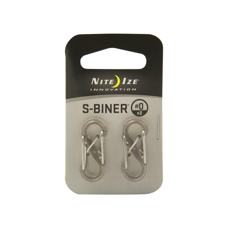 Nite-ize S-Biner Double Gated Carabiner - Grey/Grey Nite Ize SBP0-2PK-06T