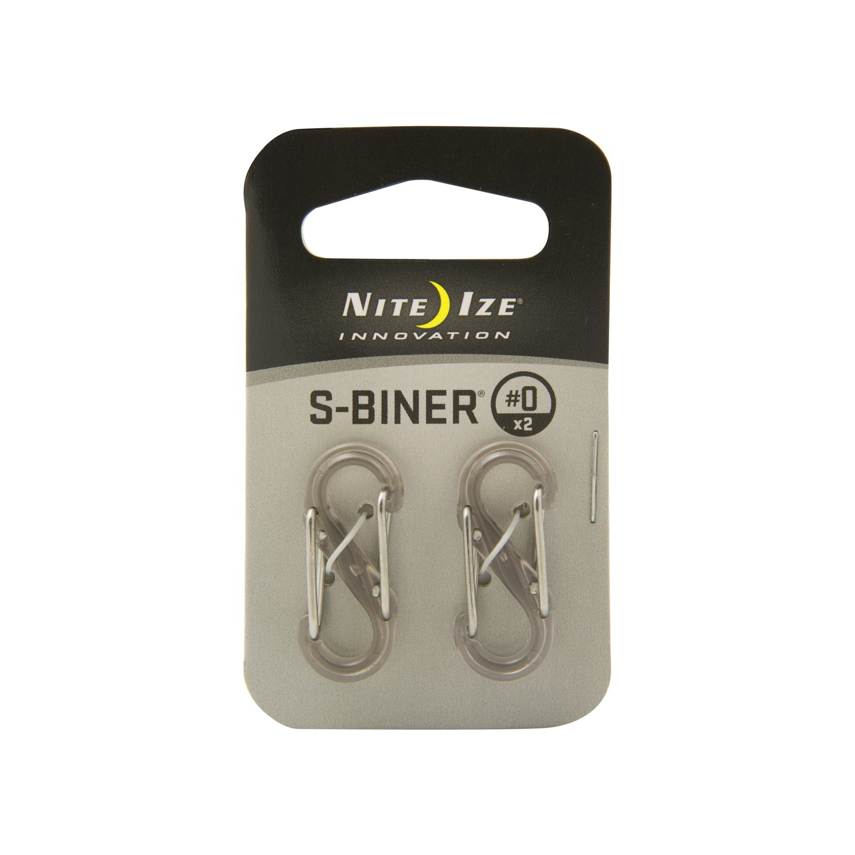 Nite Ize SBP0-2PK-06T Plastic S-Biner, Transparent Smoke, 2-Pack