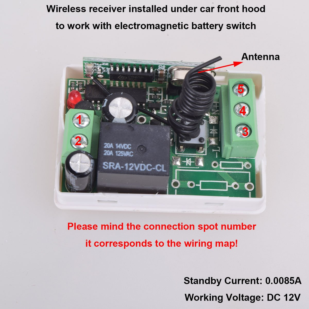 Car Wireless Remote Control Battery Switch Disconnect Latching Relay. Car Wireless Remote Control Battery Switch Disconnect Latching Relay Antitheft Ekylin Dc 12v Electromagic Solenoid Valve Terminal Master Kill System. Wiring. Battery Doctor Disconnect Wiring Diagram At Scoala.co