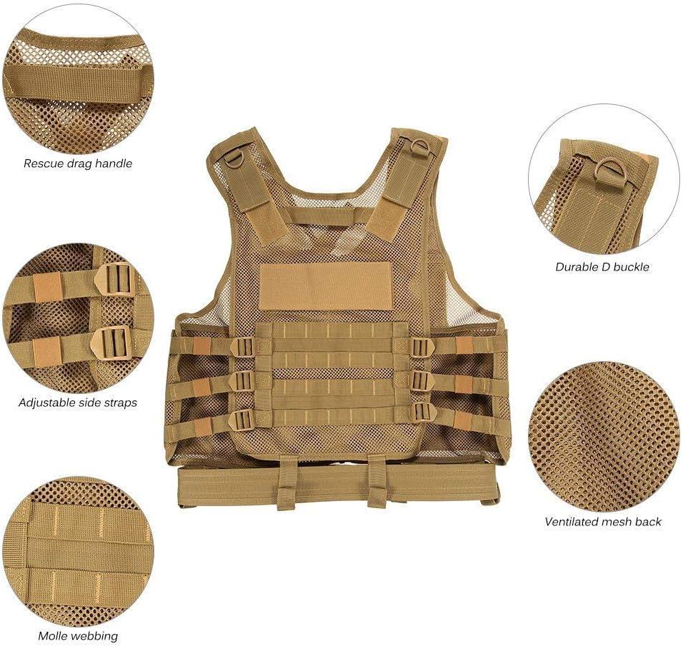 Lejie Tactique Gilet Arm/ée ext/érieure CS Champ Swat air de Jeu de Guerre Cosplay de Counter Strike Jeu Chasse Camping Randonn/ée Tactical Vest