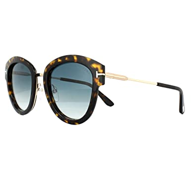 8df9398b647 Image Unavailable. Image not available for. Color  Tom Ford FT0574 52P Dark  Havana Mia Round Sunglasses Lens Category 2 Size 52mm
