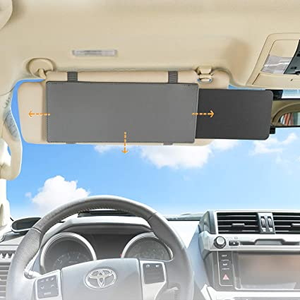 Amazon.com  TFY Car Visor Extender Anti-Glare Sun Visor Extender Window  Sunshade and UV Rays Blocker - Grey  Automotive 029d9e69a67