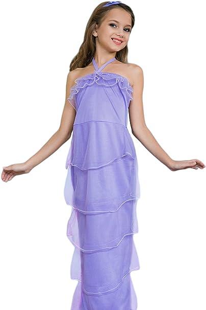 Las niñas sirena mágica mar disfraz de vestido de princesa de ...
