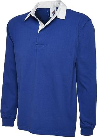 Uneek - Camiseta de Rugby para Hombre (Talla XXXL), Color Azul: Amazon.es: Ropa y accesorios