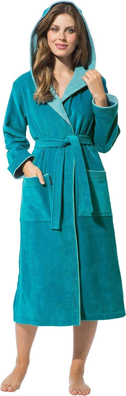 Morgenstern Peignoir de Bain Femme avec Fermeture /éclair Ceinture et Capuche Tailles XS /à XL Disponibles
