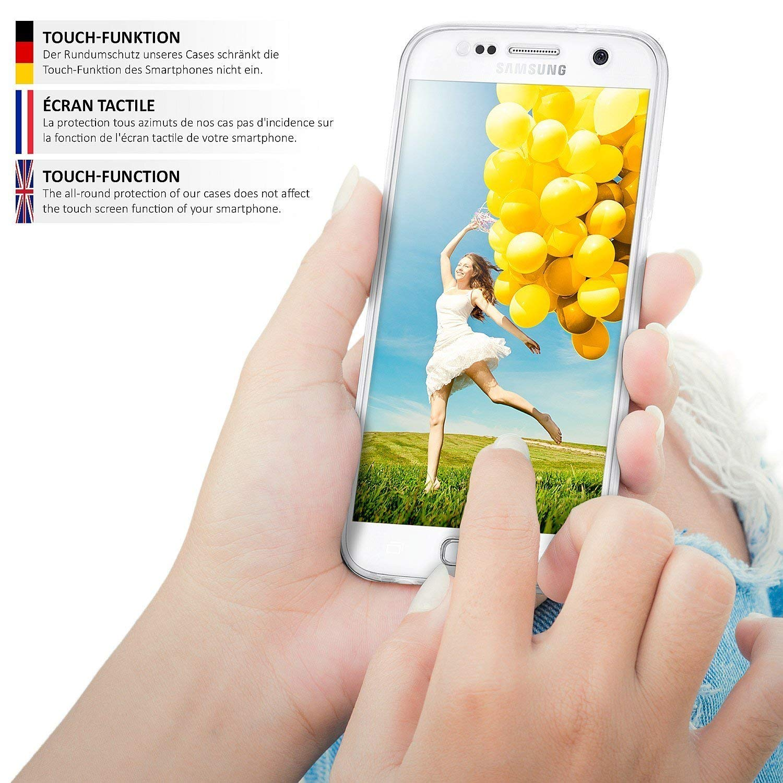 Coque Silicone 360 degres Housse /étui Gel Silicone Premium COPHONE/® Coque Compatible Samsung Galaxy S5 Int/égrale et Transparente
