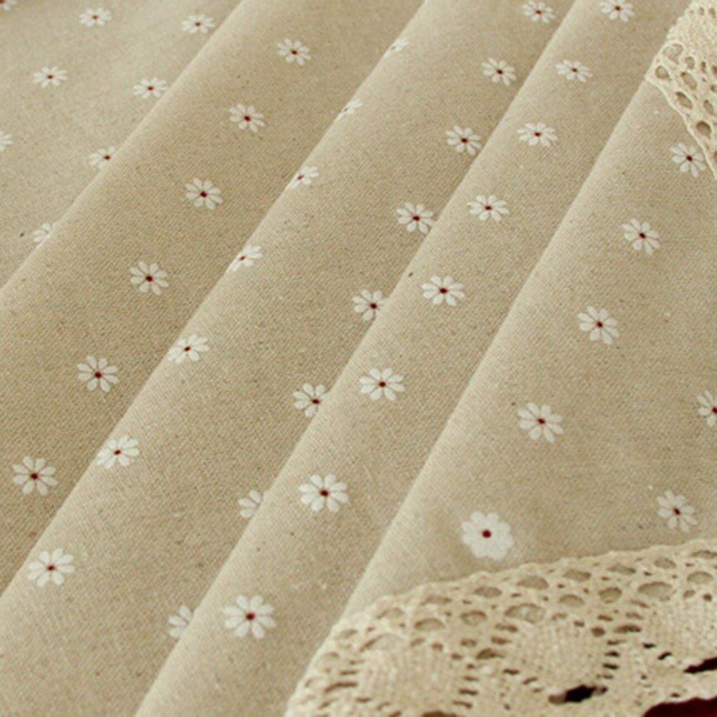 Byqny Tovaglia in Lino da Giardino in Stile Giapponese in Cotone E Lino