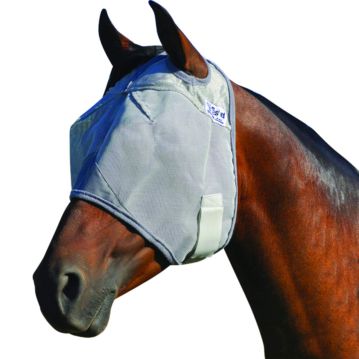Cashel Crusader Standard Fly Mask No Ears or Nose,Gray,Horse by Cashel