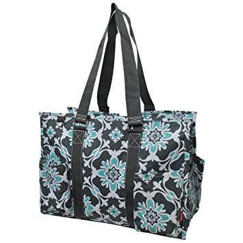 cfddc724ddce Quatre Vine NGIL Large Zippered Caddy Organizer Tote Bag