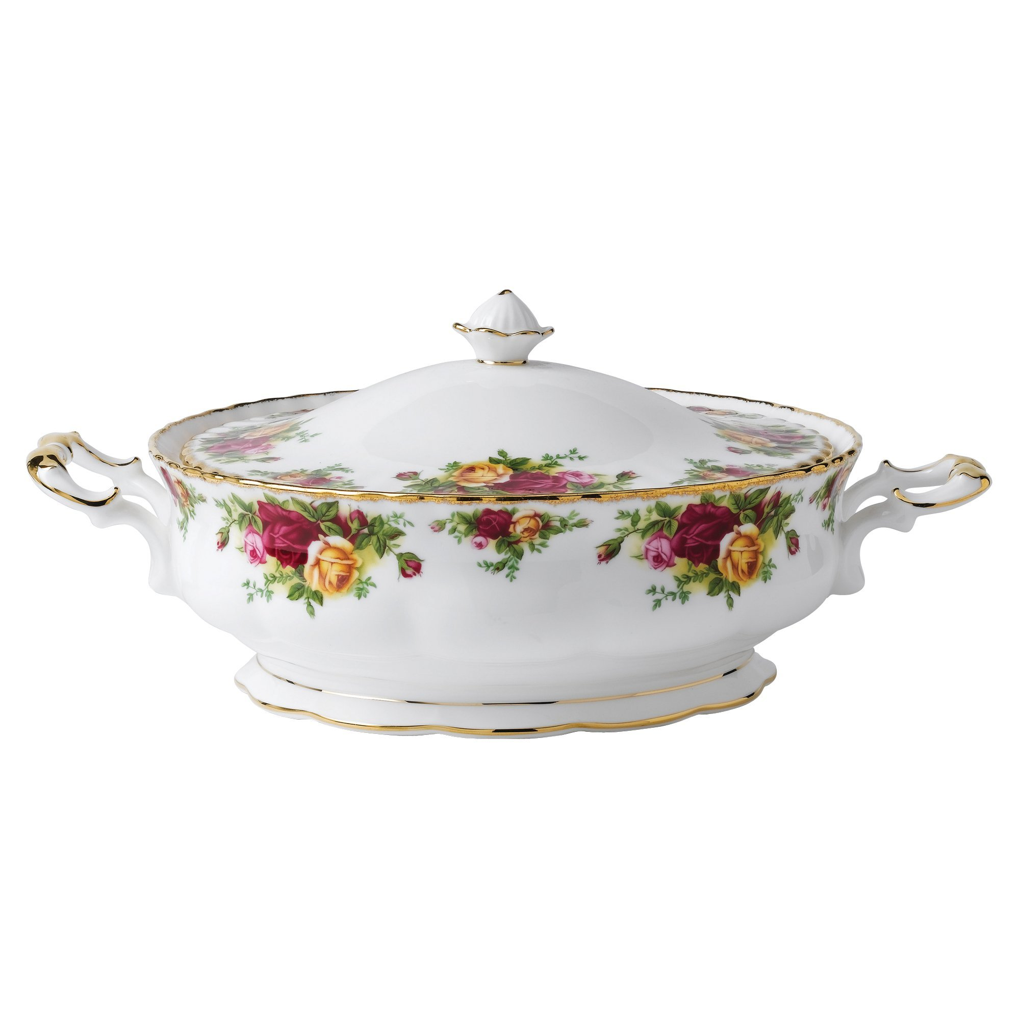 Royal Albert Old Country Roses 50-ounce Covered Vegetable Dish by Royal Albert (Image #1)