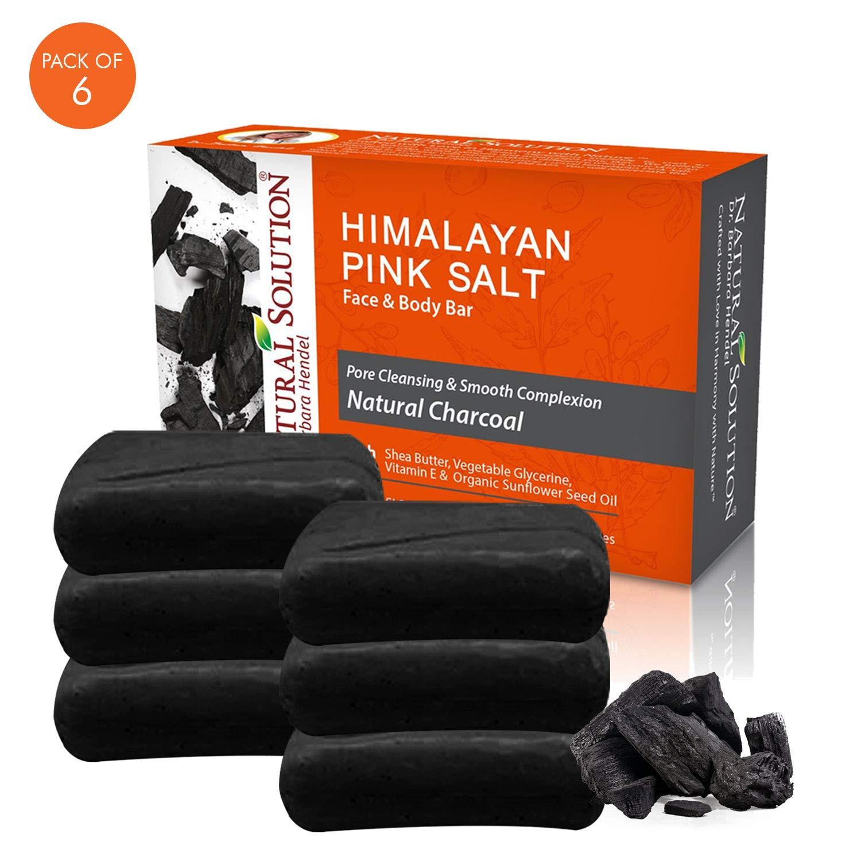 Natural Solution 8322-6PK Charcoal soap bar, 6-Pack, Body