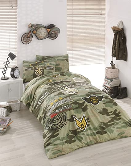 Bekata Peace  Cotton Special Air Force Army Bedding Set For Boys And Girls