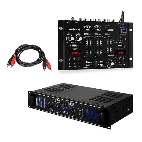 Skytec SPL1000EQ Amplificador PA DJ - Mesa de Mezclas Resident DJ ...