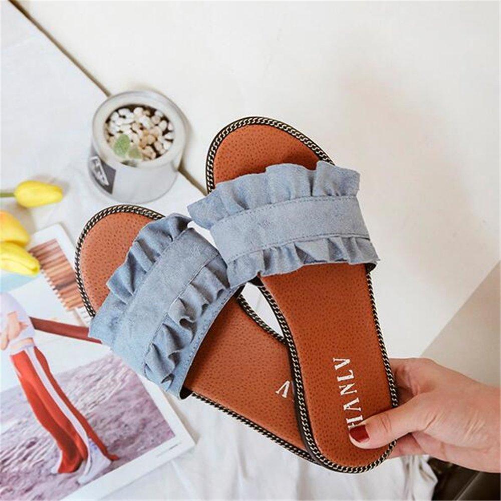 Hanglin Trade Women Slippers Flat Casual Women Shoes Slip On Slides Beach Slippers Flip Flops Sandals