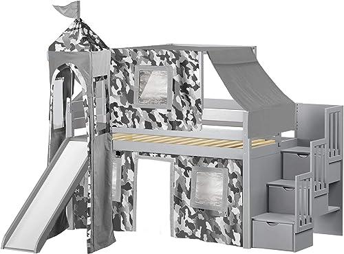 JACKPOT Castle Low Loft Stairway Bed