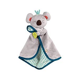 B. Toys – B. Snugglies - Fluffy Koko The Koala Security Blanket – Adorable Baby Blankie with Soft Fabric – BPA Free