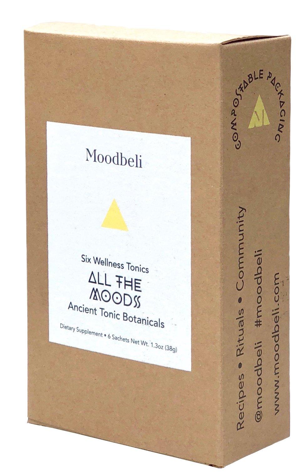 Moodbeli - Organic All The Moods Set (Six Travel-Size Tonics)