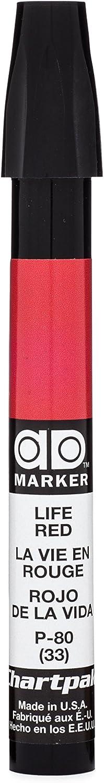 The Original Chartpak AD Marker, Tri-Nib, Life Red, 1 Each (P80)