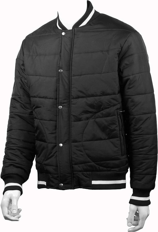 Sleeve Rolls SLEEVEROLLS Mens Bomber Jacket Black Stylish Sporty