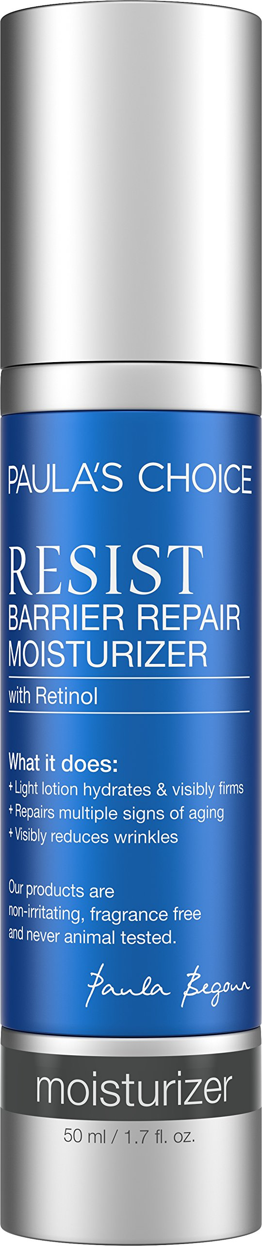Paula's Choice RESIST Barrier Repair Moisturizer with Retinol and Antioxidants, 1.7 oz (1 Bottle) for Normal to Dry Skin Aging Skin Fine Lines Facial Wrinkles Dull Skin of the Face- 1.7 oz