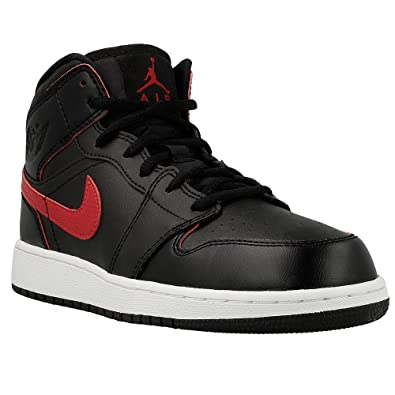 various colors 0c60f efe9b Nike Air Jordan 1 Mid BG- Chaussures de Basketball Garçon, Noir (Black/