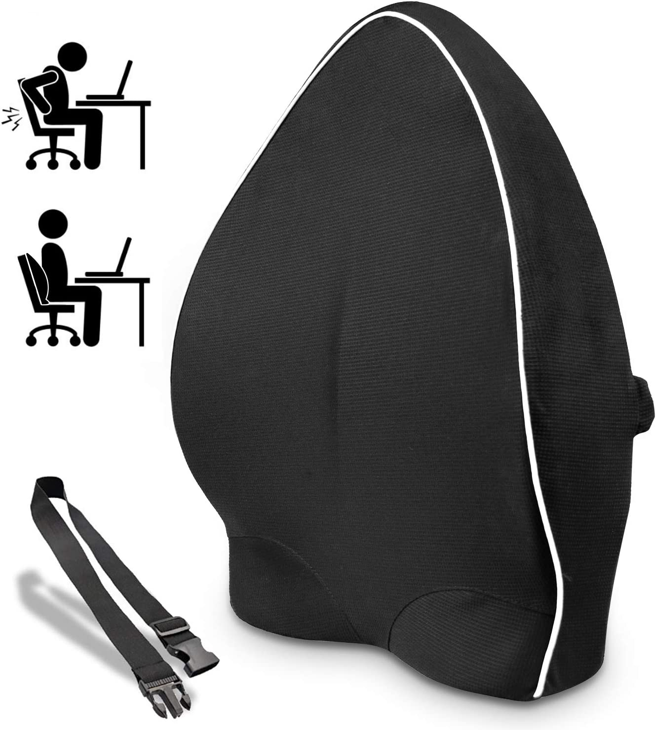 Amazon Com Lumbar Support Back Cushion Back Pillow For Office