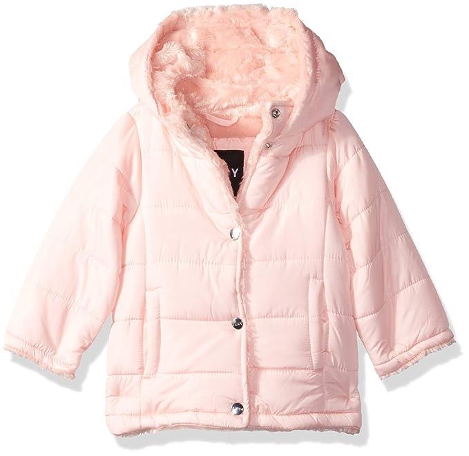 Amazon.com: DKNY - Chaqueta de piel sintética para bebé ...
