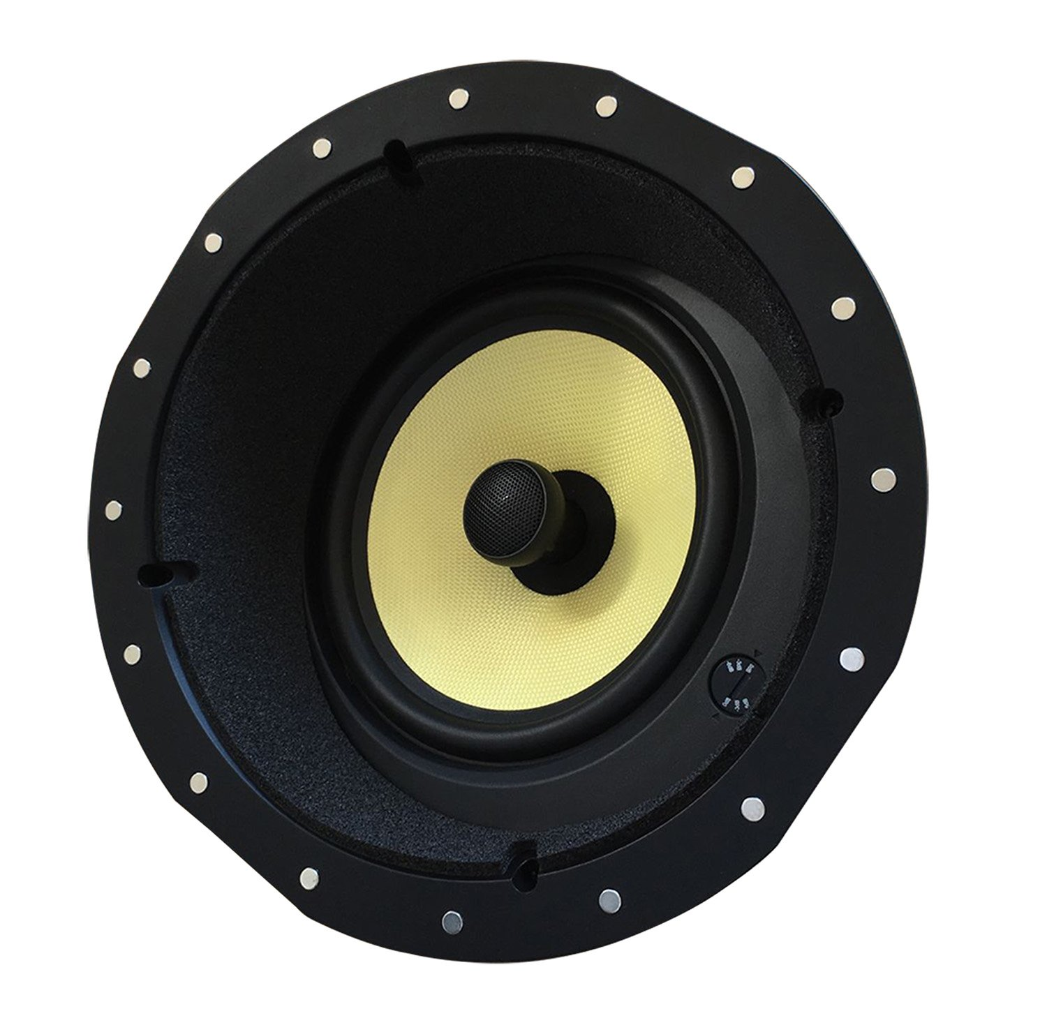YK82AC Silver Ticket Products Angled In-Ceiling Speaker with Magnetic Grill and Pivoting Tweeter (8 Inch Angled in-ceiling)