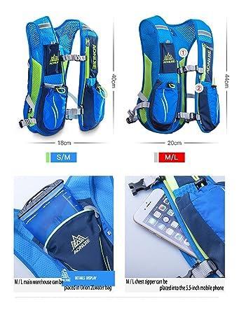 Amazon.com : LIBOLI Hydration Pack Backpack 5.5L Hydration Vest Outdoors Marathoner Running Race Hiking Climbing (Blue) : Sports & Outdoors