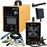 SUPER DEAL DC Inverter Plasma Cutter Welding Machine With Screen Display Dual Voltage 110/220V AC 1/2'' Clean Cut (CUT…