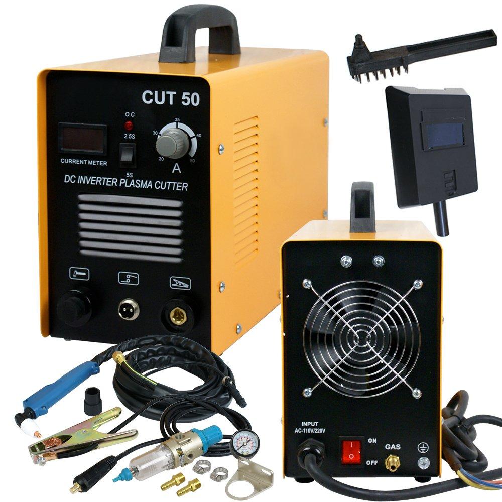 SUPER DEAL DC Inverter Plasma Cutter Welding Machine With Screen Display Dual Voltage 110/220V AC 1/2'' Clean Cut (CUT 50) by SUPER DEAL