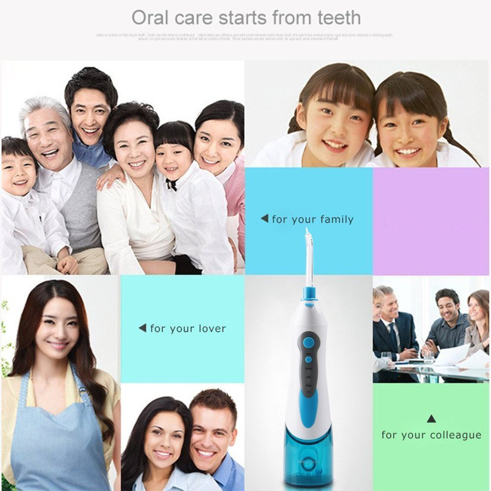 mifanstech hilo dental de agua, Jet Hidropropulsor oral irrigateur Jet Dental 3 modos irrigateur Dental con 4 boquillas - Hilo dental de agua impermeable y ...
