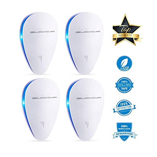 Pest Repeller Plug In - Ultrasonic Electronic Pest Control For Moths, Mice, Mosquito, Insects, Rats, Flies, Spiders And More - Human And Pet Safe Non Toxic Repellent - (4 Pack, White - UPR1)