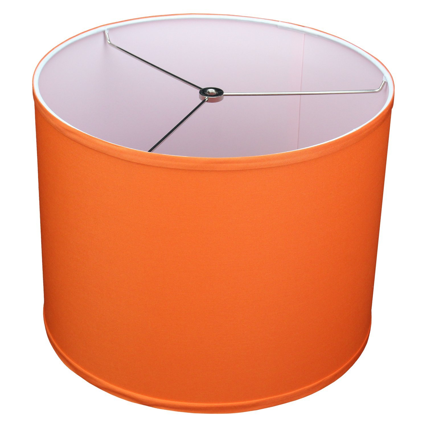 FenchelShades.com 14'' Top Diameter x 14'' Bottom Diameter 11'' Height Cylinder Drum Lampshade USA Made (Carrot)