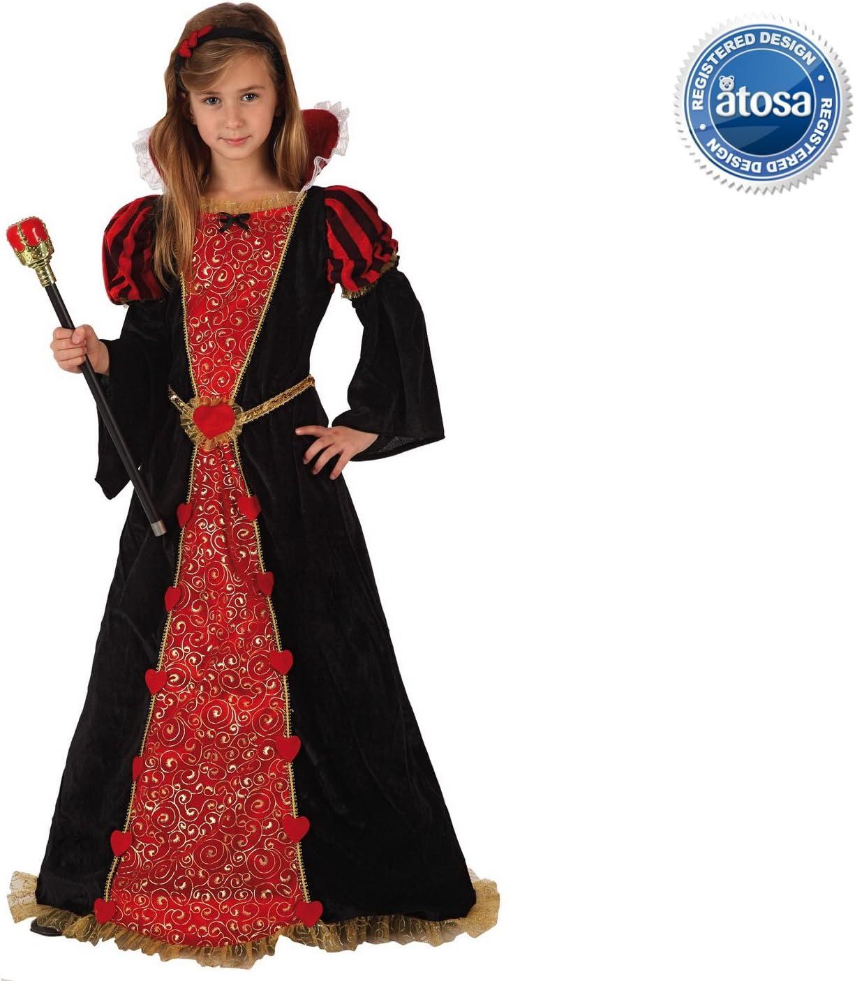 Disfraz de Reina Medieval Para Niñas en Varias Tallas: Amazon.es ...