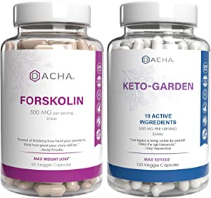 Forskolin and Ketogarden Premium Bundle – Advanced Keto Diet for Max Slim Look, Ultra Strength Weight Loss Pills with 11 Natural Herbs, Detox, Immune System Support, Lose Fast Plus Anti Inflammatory