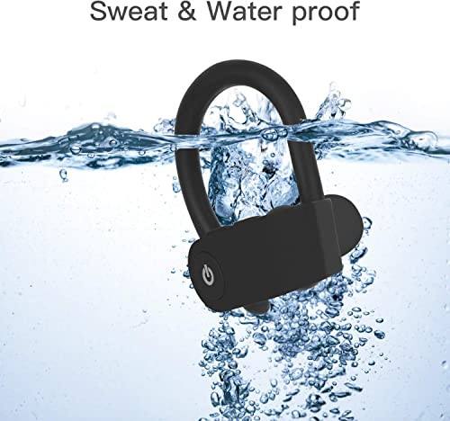 Bluetooth Headset, HD Stereo IPX5 Lightweight Waterproof Headphones with Microphone HD Sound and Deep Bass Motion for iOS Airpods PC Android Tablet
