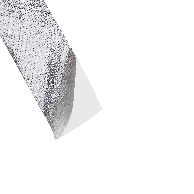 50 mm x 25 m Creative-Idea Klebeband W/ärme selbstklebend silberfarben reflektierend verst/ärktes Aluminium