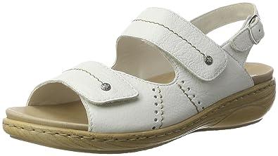 Rieker Damen V2362 Offene Sandalen mit Keilabsatz blau