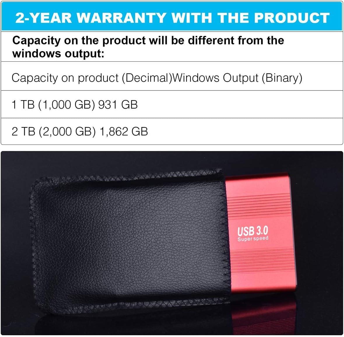 Disco Duro Externo port/átil USB 3.0 para PC Peony Mac port/átil Xbox One y Smart TV Plata 1 TB PS4