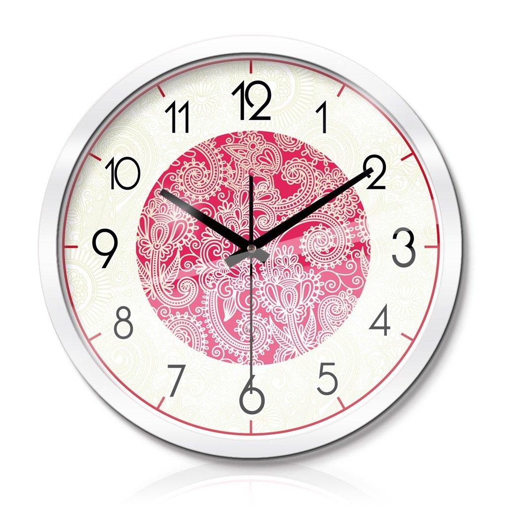 LINGZHIGAN 時計リビングルームベッドルームクリエイティブメタルウォールクロックウォールクロックサイレントスキャン3世代スマートな電気時計 ( 色 : 白 , サイズ さいず : 40 cm 40 cm ) B07BWGQLXL 40 cm 40 cm 白 白 40 cm 40 cm