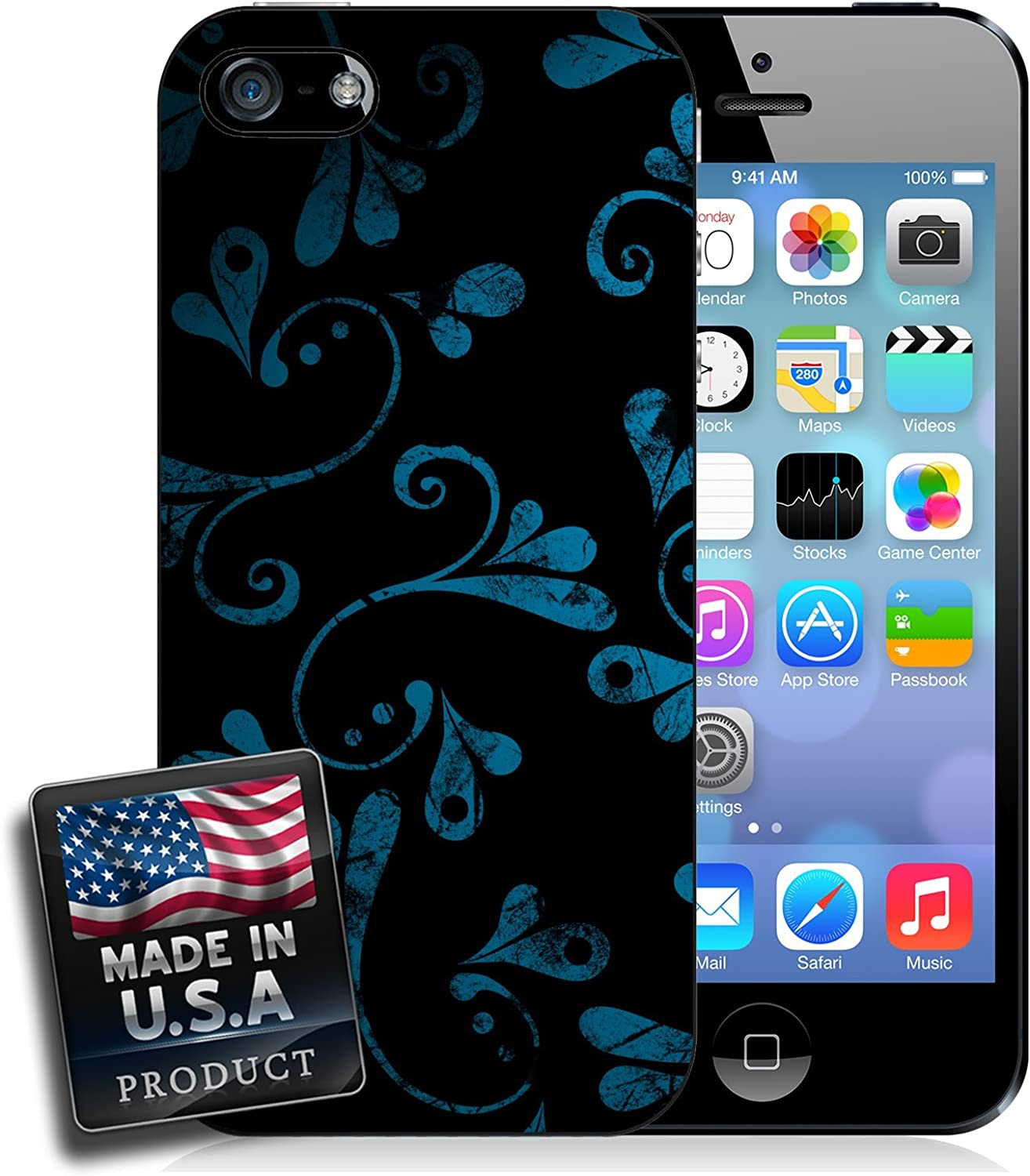 Dark Floral Wallpaper Iphone 6 Plus Hard Case Amazon Ca Cell